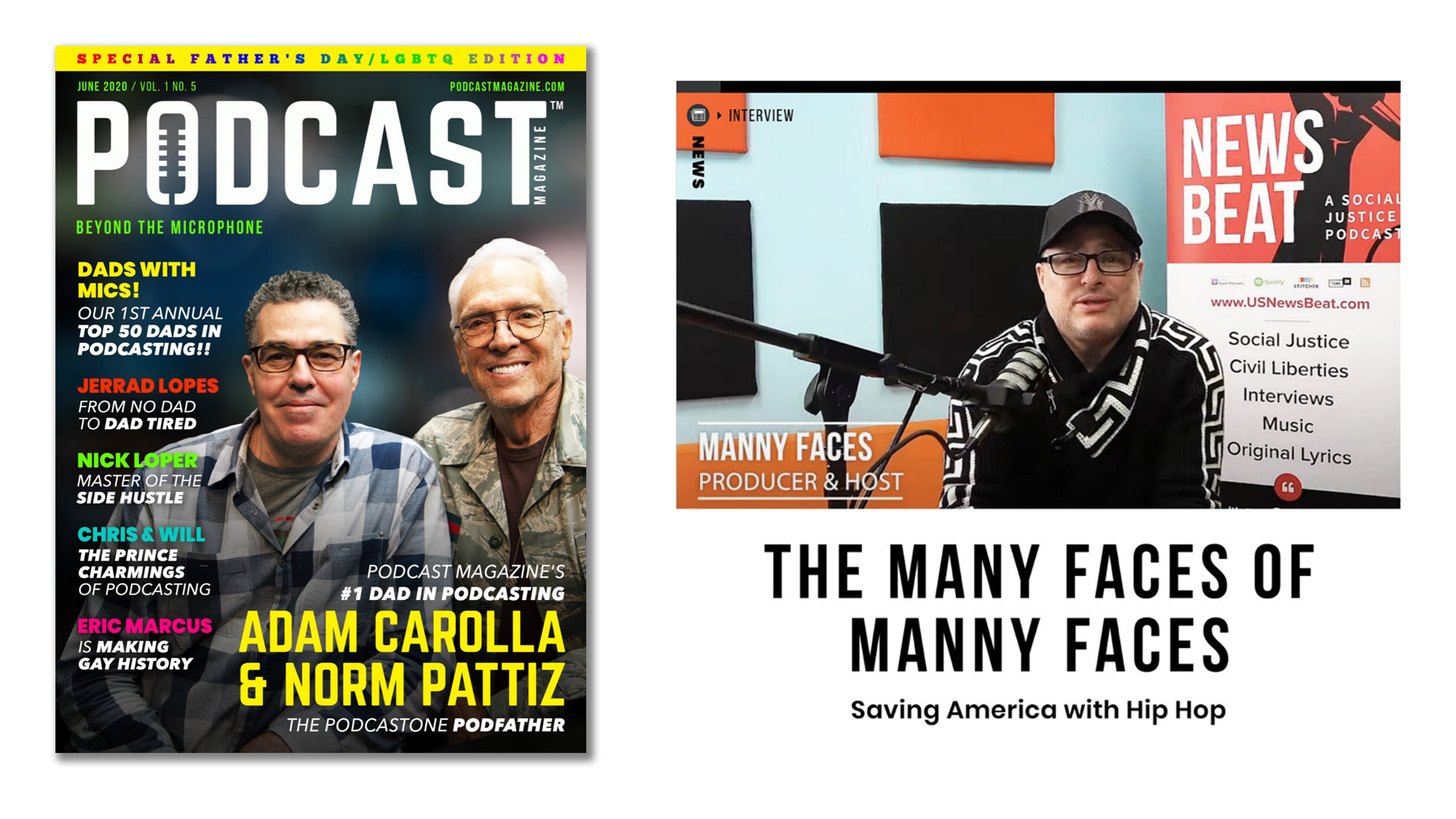 Podcaster Manny Faces feature in Podcast Magazine